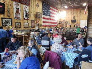 Sturgis Rally Dinner in the Clubhouse at Sturgis RV Park