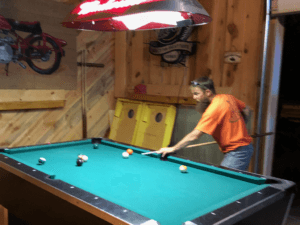 Sturgis RV Park Pool Table in Clubhouse