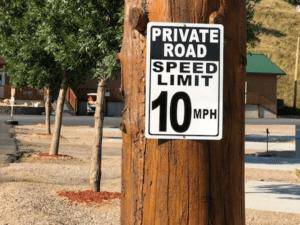 Sturgis RV Park Speed Limit Sign