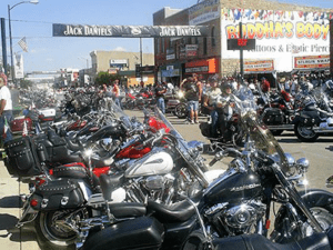 Main St Sturgis with motorcycles