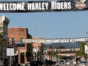 Main St Sturgis with Rally signs