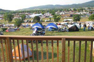 View of Sturgis RV Park from Clubhouse