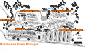 Sturgis RV Campground Map